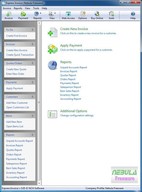 Express Invoice Invoicing Software Free Reviewed By Nebula CS - Express invoice invoicing software