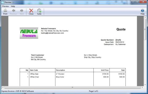 Express Invoice Invoicing Software Free Reviewed By Nebula CS - Invoice software nch